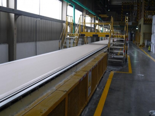 Plasterboard production equipment