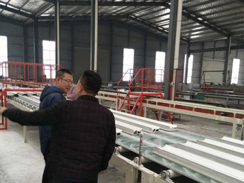 Full automatic plaster line equipment