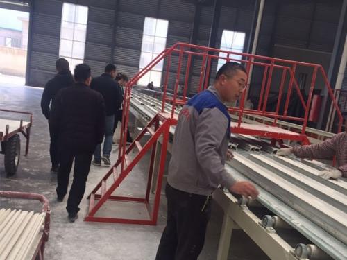 Automatic gypsum line production equipment